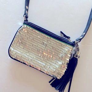 Juicy Couture Silver Sequin Crossbody Bag